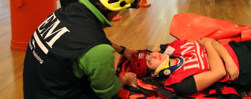 Movilización e inmovilización de heridos