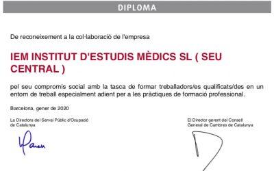 l'IEM reb un diploma reconeixement pel seu compromís social
